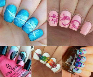 feather-nails-collage
