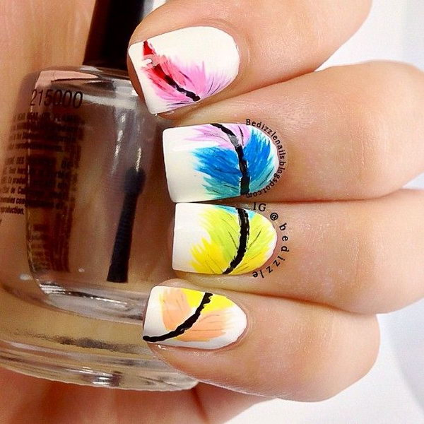 When it comes to nail art or manicures, there are so many choices. Feather design is one of the most popular nail art trend these days. Take a look at these creative feather nail art designs, which will make your nails truly stand out.