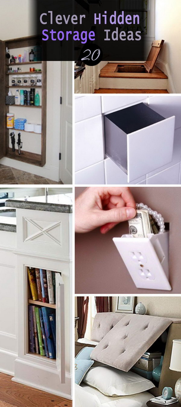 12 Clever Hidden Storage Ideas - Hative