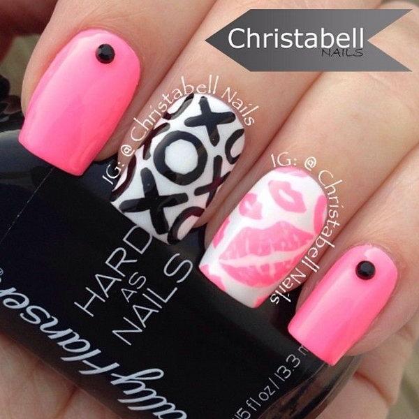 Sweet Kiss Nail Art Designs