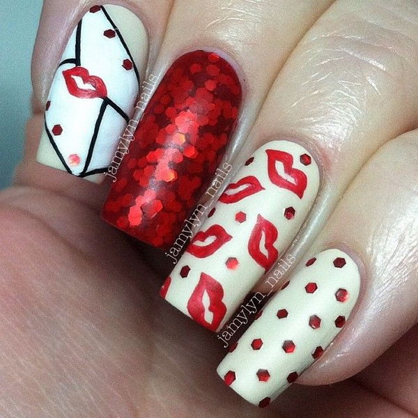 Sweet Kiss Nail Art Designs