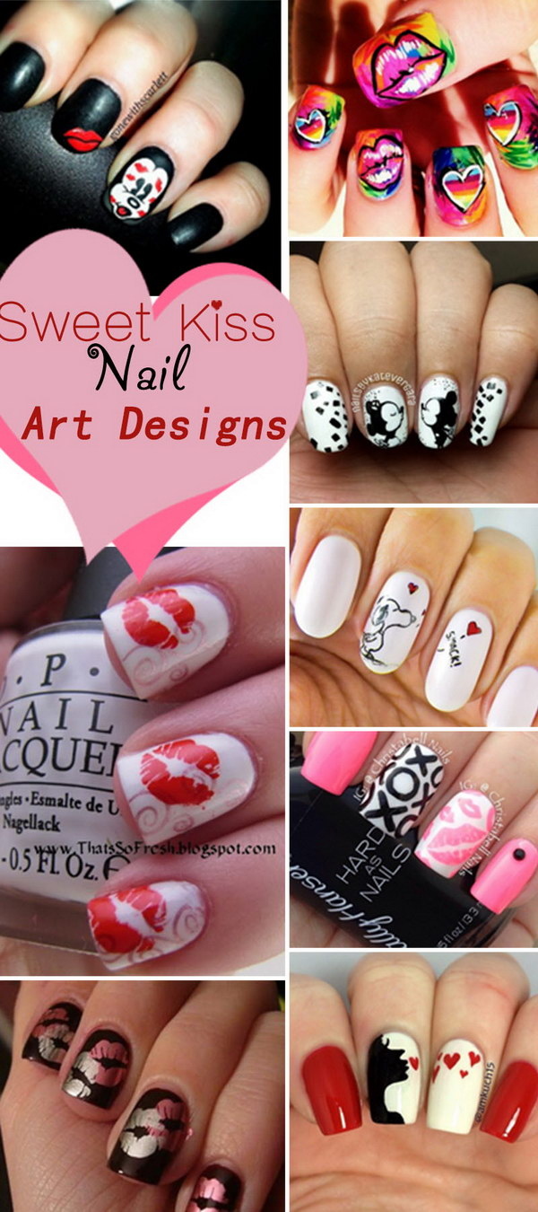 Sweet Kiss Nail Art Designs!