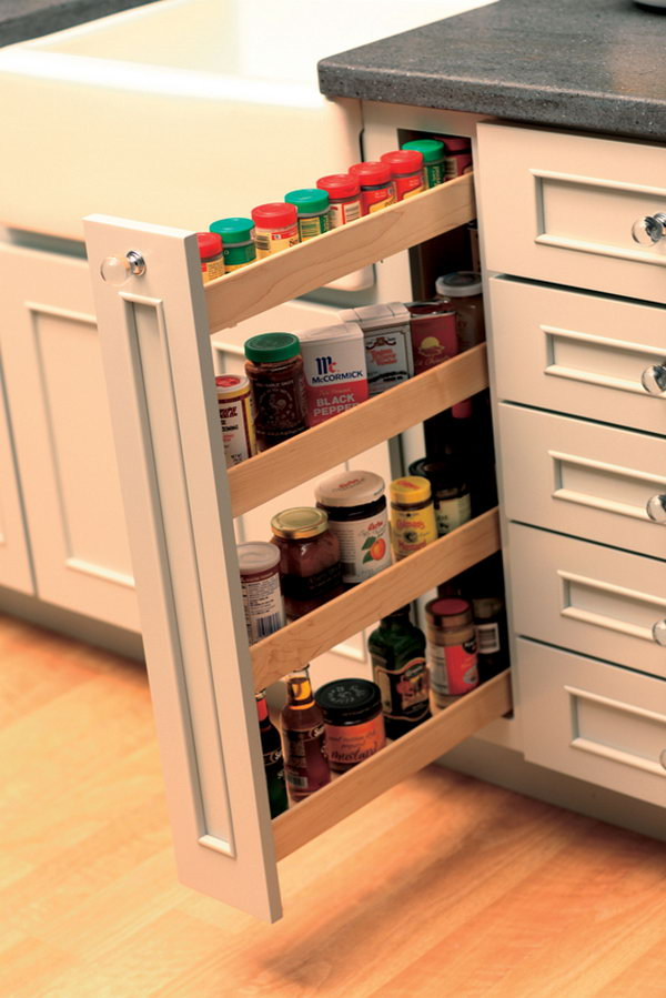 Clever kitchen storage ideas hative for Cabinet storage ideas kitchen