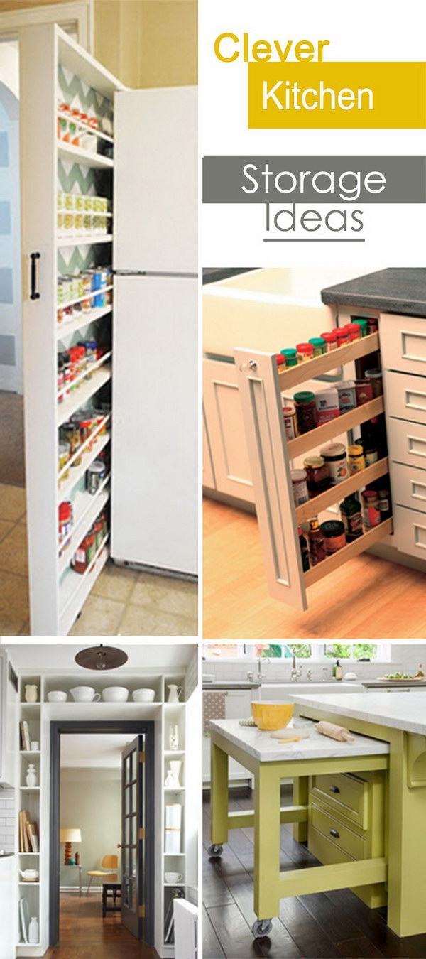 kitchen storage idea clever kitchen storage ideas hative 3152