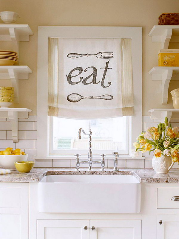 Awesome Creative Kitchen Window Treatment,