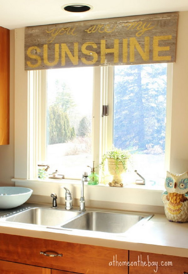 Creative kitchen window treatment ideas hative for Creative window designs