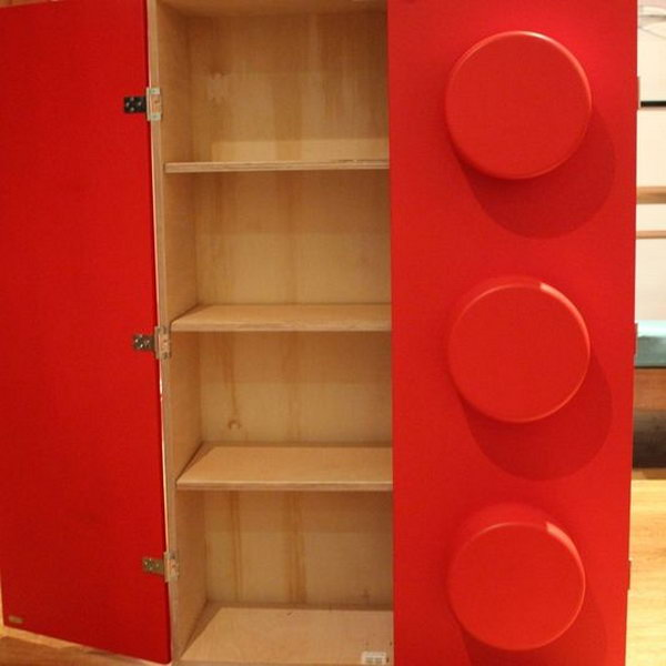 Store Lego sets with this delightful bookcase. Turn your child's room into a fun space full of building blocks.