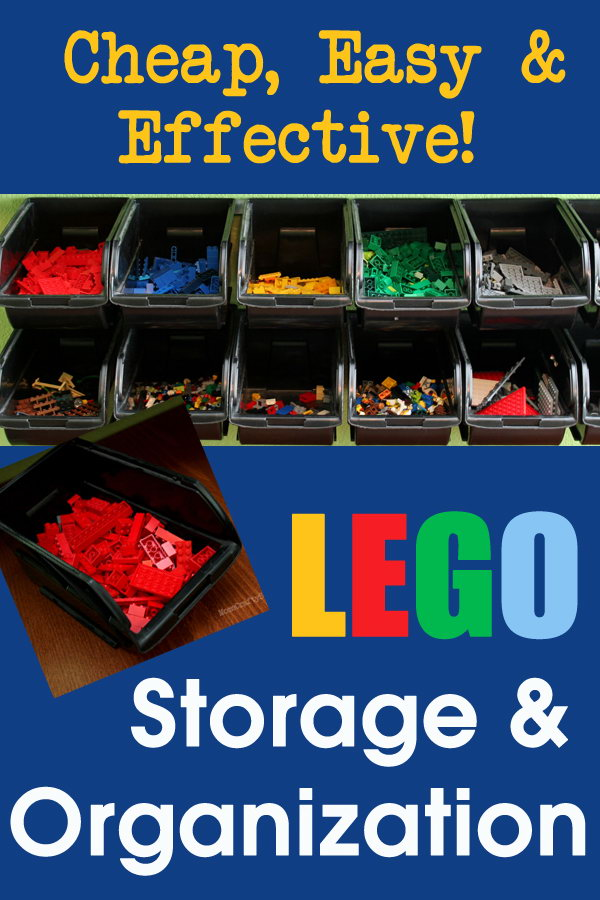 Cheap And Easy LEGO Storage Organizer. Use The Metal Rail To Hang These  Black Plastic