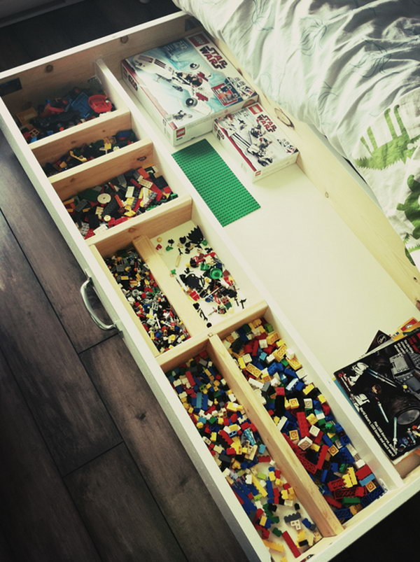 creative lego storage ideas hative. Black Bedroom Furniture Sets. Home Design Ideas