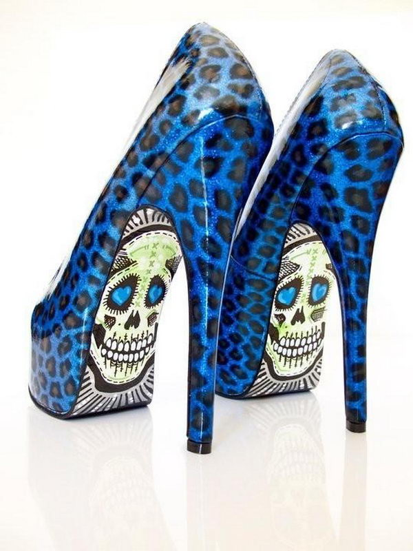 Leopard Skeleton Shoes.