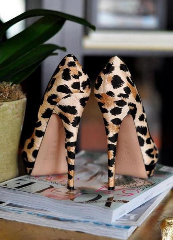 Leopard Printed Shoes.