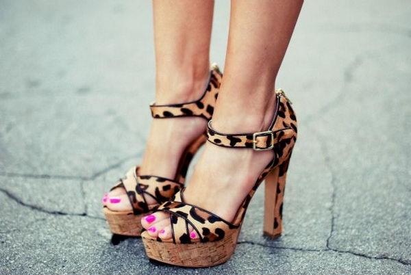 Leopard Print Sandal.