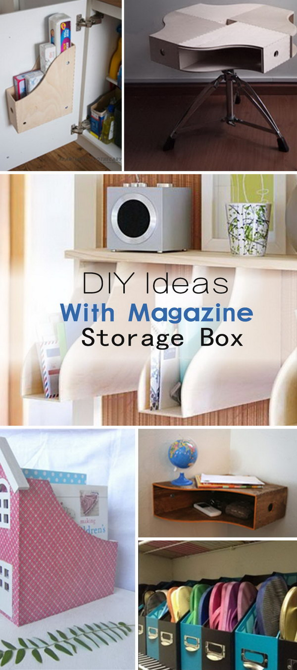 DIY Ideas With Magazine Storage Box!