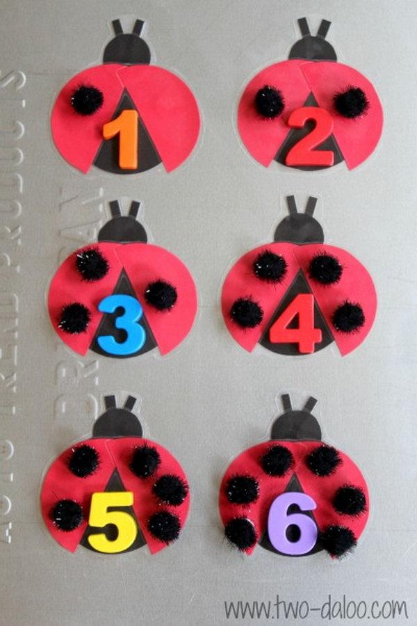 Math Bulletin Board moreover Diy Board Game Bottle Cap Crafts Handmade Summer Craft Project likewise Ccd B Ba C Deba D A Dabee Ce besides Ec Cd D C A moreover Walkingstick. on ladybug crafts idea for kids