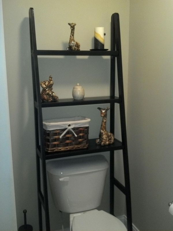 Over the toilet storage ideas for extra space hative for Bathroom over the toilet shelf