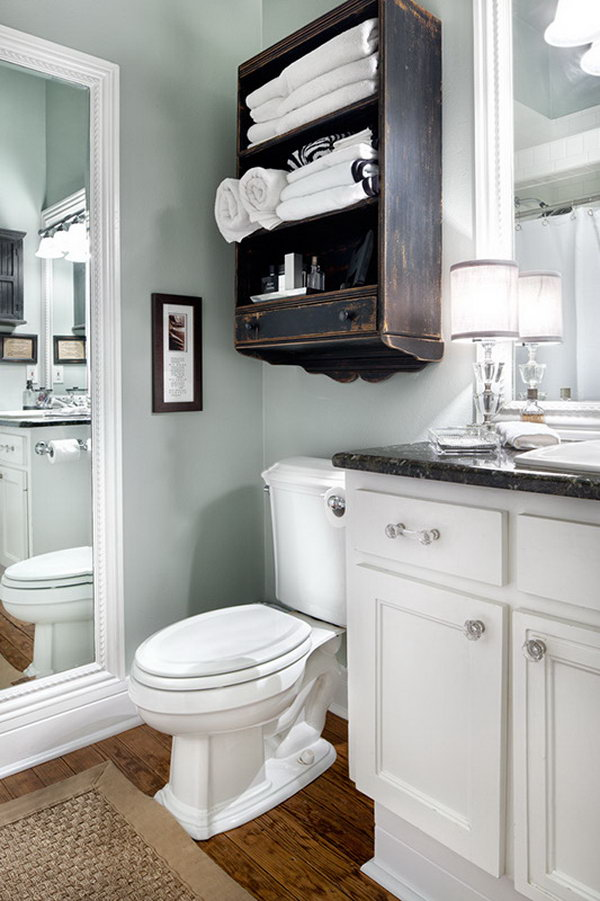 Over the toilet storage ideas for extra space hative for Over the toilet cabinet