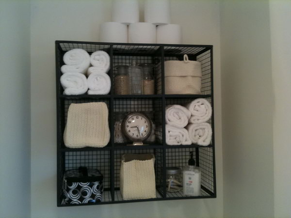 With Very Limited Storage Above The Toilet This Wire Cube Storage