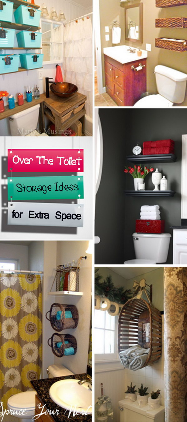 Over The Toilet Storage Ideas for Extra Space!