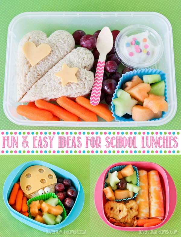 fun and easy school lunch ideas for kids hative. Black Bedroom Furniture Sets. Home Design Ideas