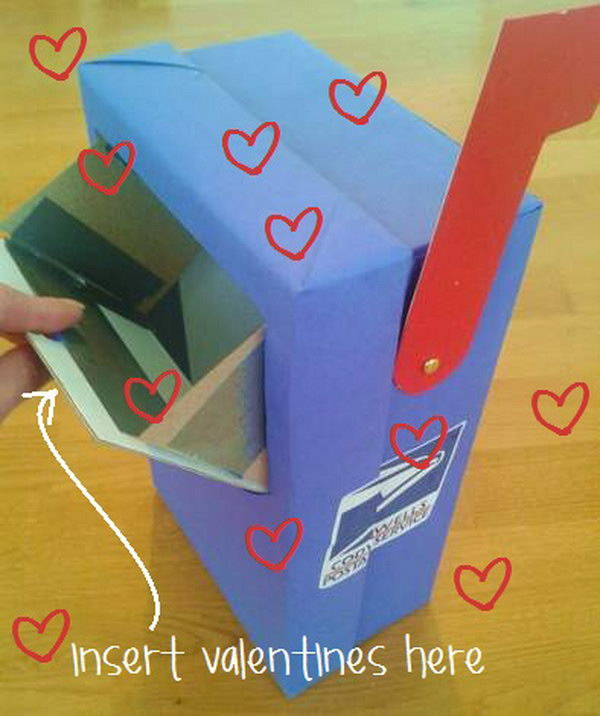 Kids would love this mailbox craft for Valentine's Day.