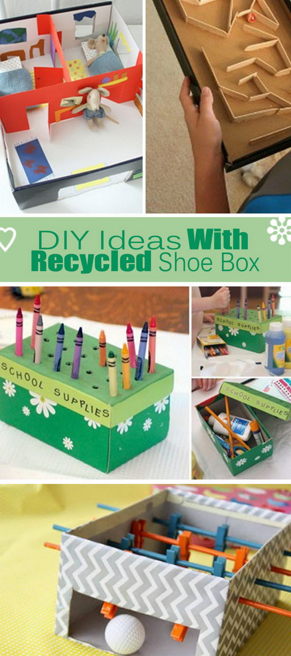 shoebox crafts ideas diy ideas with recycled shoe box hative 2927