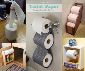 Fresh Diy Toilet Paper Holder Set