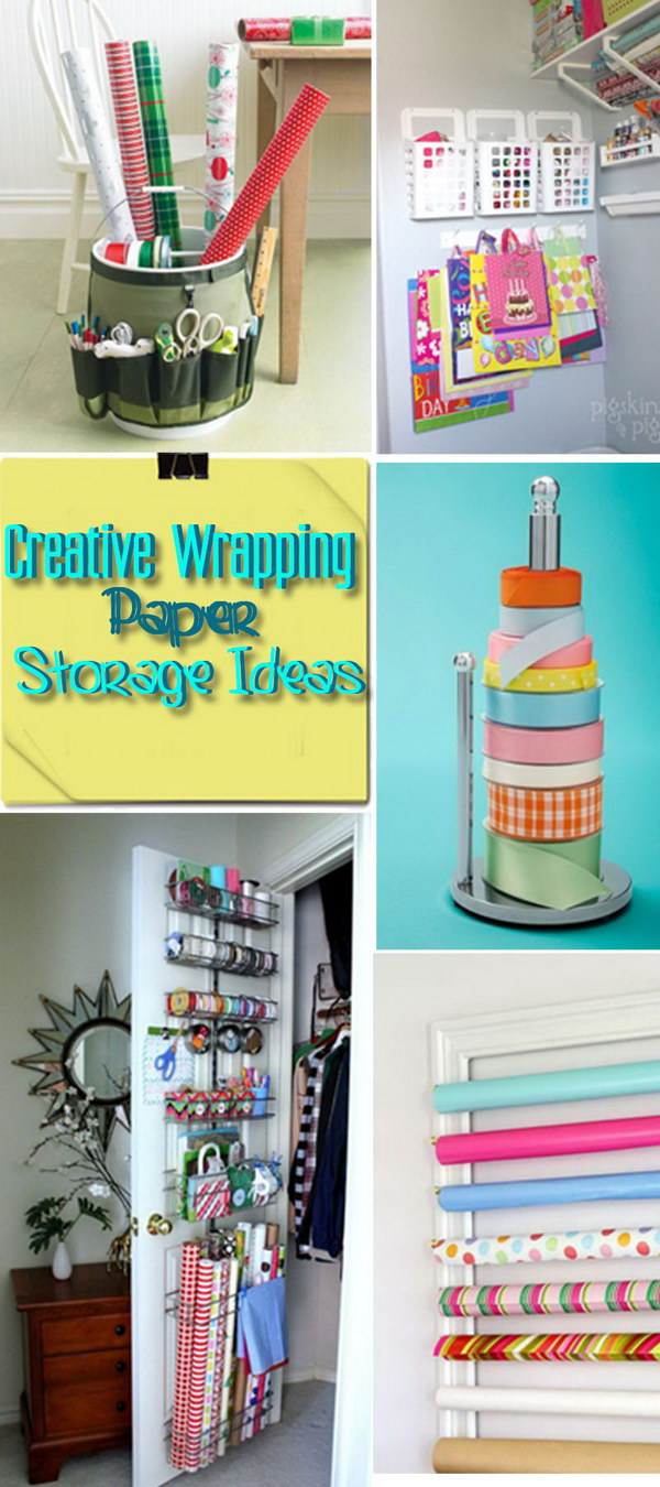 Creative Wrapping Paper Storage Ideas Hative