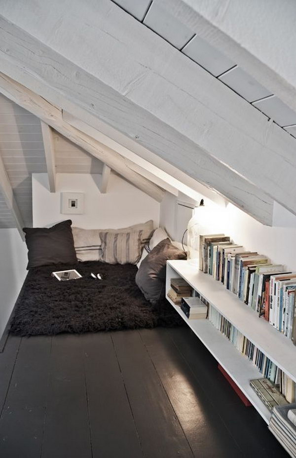 Attic Bookshelf Storage Fill The Unused E With Books Create A Cozy Home
