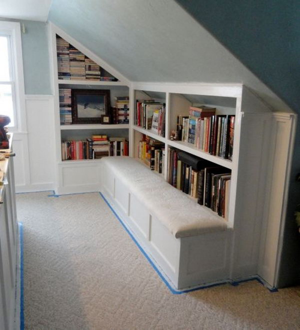 Creative attic storage ideas and solutions hative How to store books in a small bedroom