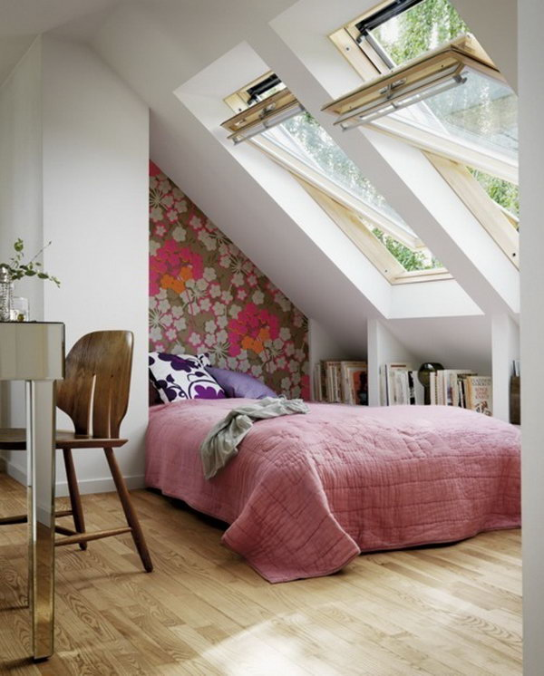 Use The Dead Space On The Short Side Of The Attic Room To Create Built In