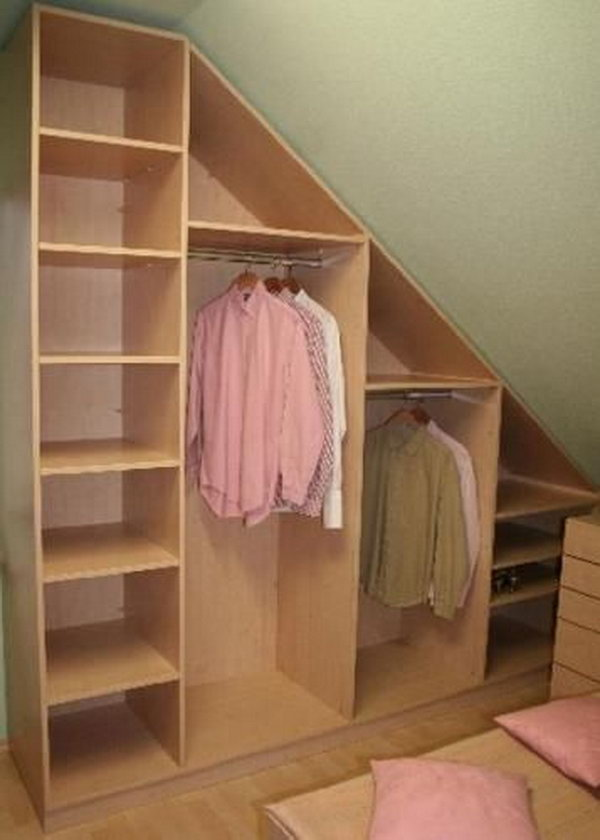 design. Create your attic closet following the layout of the attic