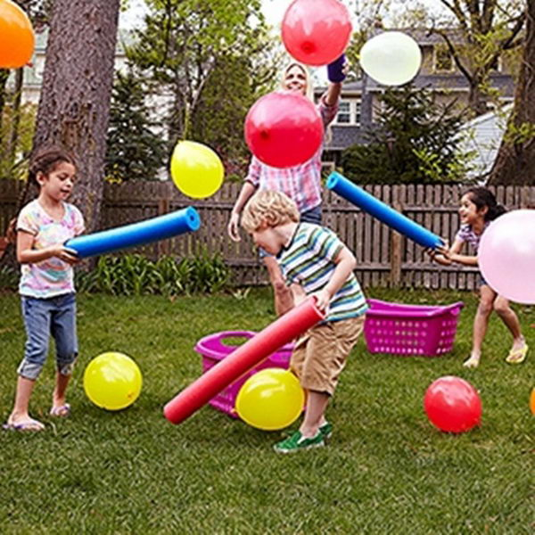 Balloons Game. Interesting things to do out there in your backyard. So simple and cheap to make, and you could play them with your kids or family anytime.