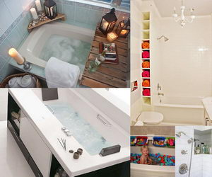 bathtub-storage-ideas-collage