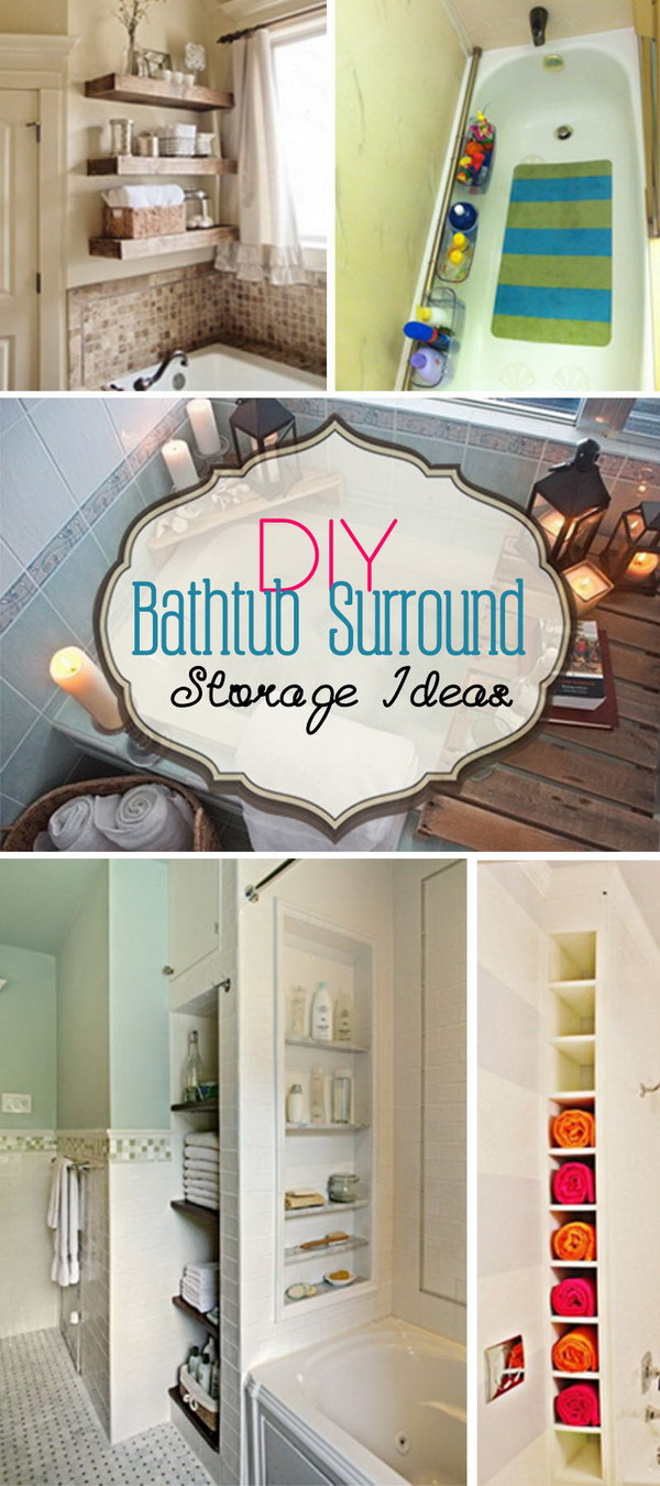 DIY Bathtub Surround Storage Ideas!