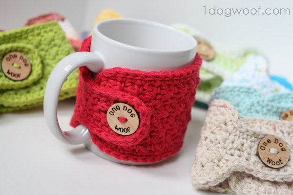 Stitch Mug Cozy. A Homemade Mug Cozy Is A Very Warm And Great Present For