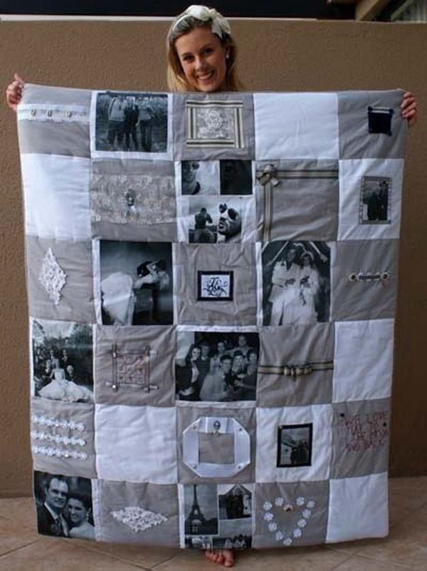 photo memory quilt it is a wonderful idea to make a photo memory quilt to