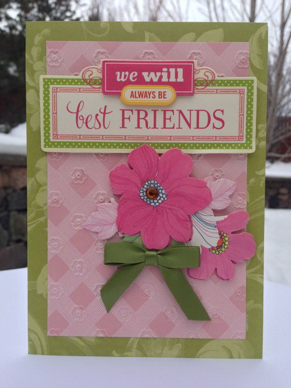 3D Friendship Card This Best Friends Gift Is A Pretty Simple And Straight Way