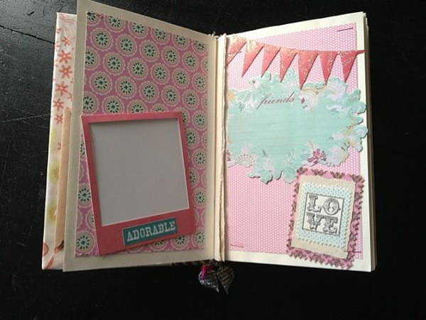 Scrapbook. A nice customized scrapbook is an amazing present for your bestie to record good memories. The owner of the beautiful scrapbook can add favorite pictures, special ticket studs or other keepsakes to it.
