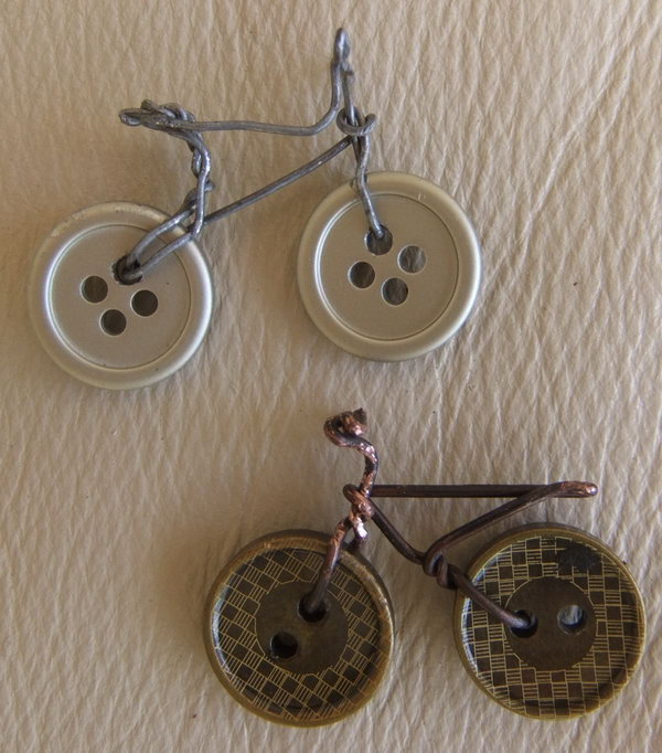 Bike Crafts Made From Wires and Buttons A cute gift idea to turn them