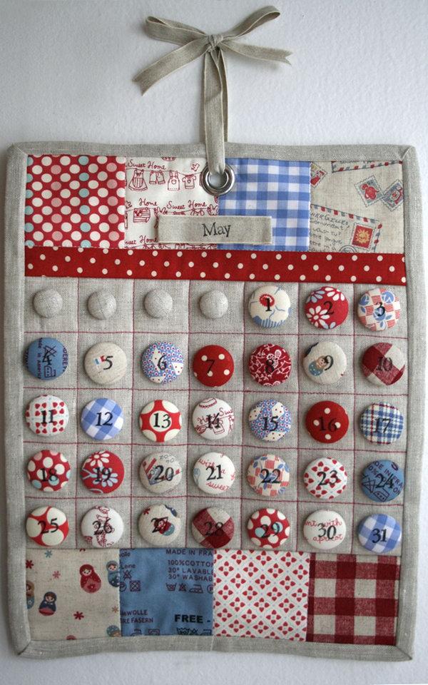 Cute Diy Calendar : Fun and cute diy button crafts hative