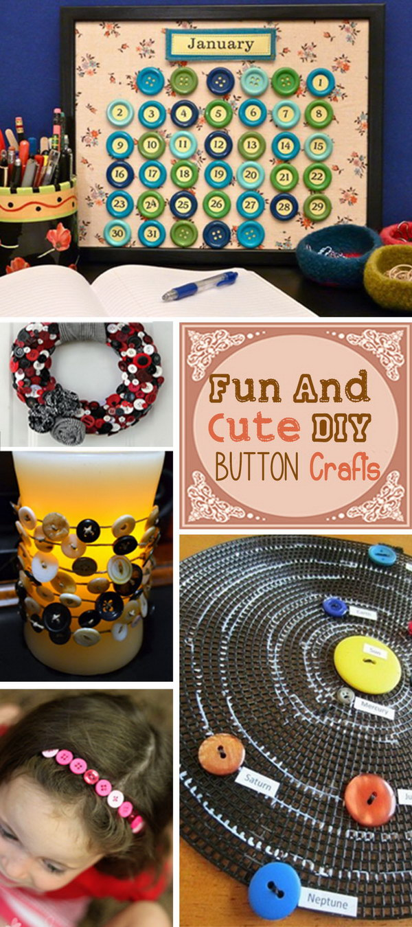Fun and Cute DIY Button Crafts!
