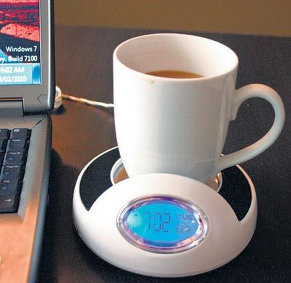 Ordinary Cool Office Gadgets Part - 3: USB Coffee Warmer. Want To Have Some Hot Beverage During Your Work? This USB