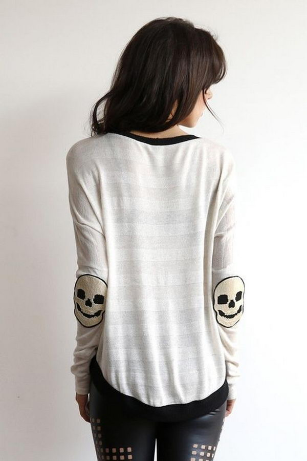 Skull Elbow Patches. Create a style of intelligence, distinction and romantic fashion. Give your old sweater or jacket a new life.