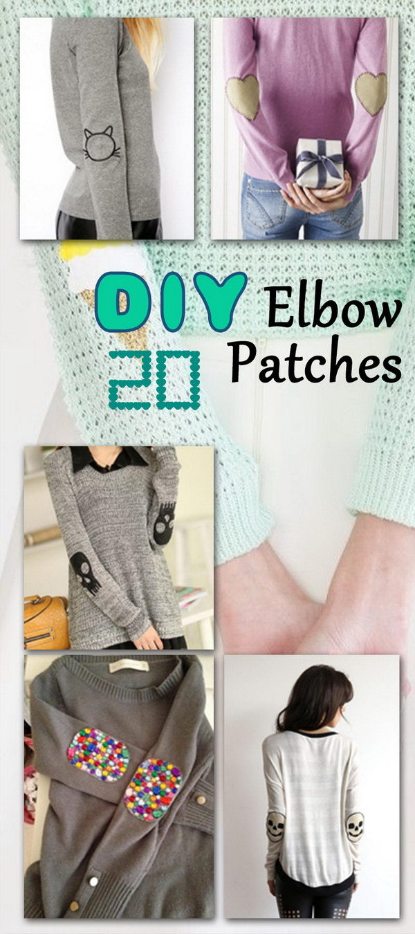 DIY Elbow Patches! Give your old sweater or jacket a new life, and create a stylish new look in minutes!