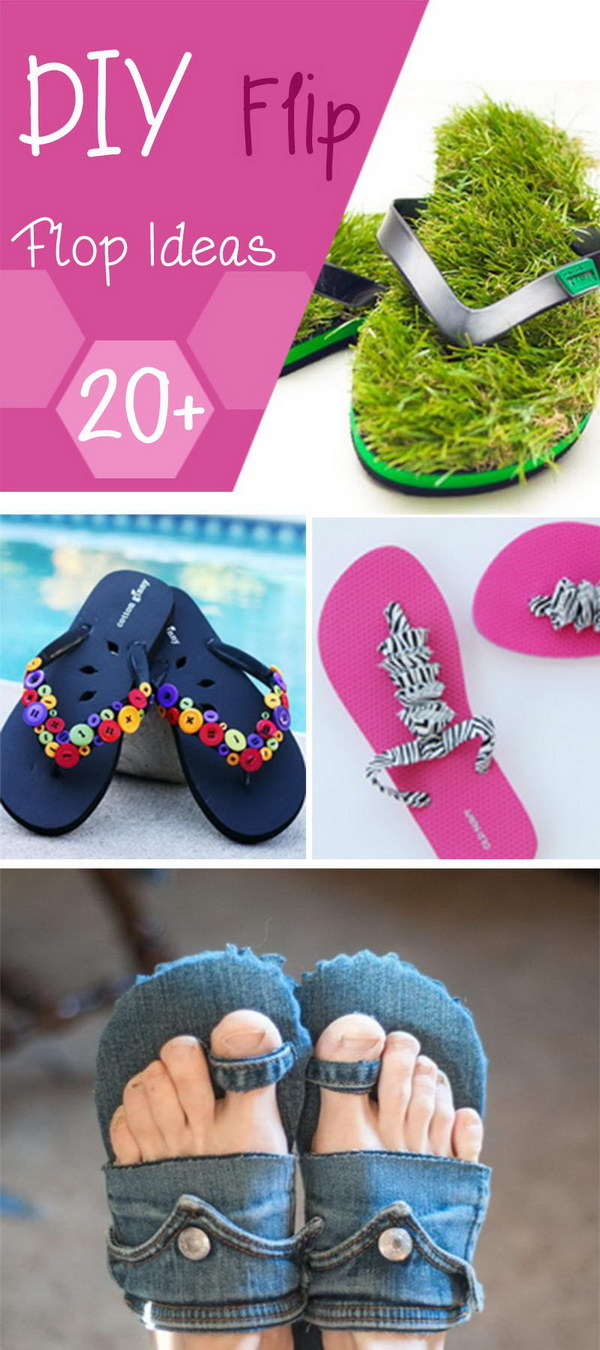 DIY Flip Flop Ideas. Fun, creative and easy to make.