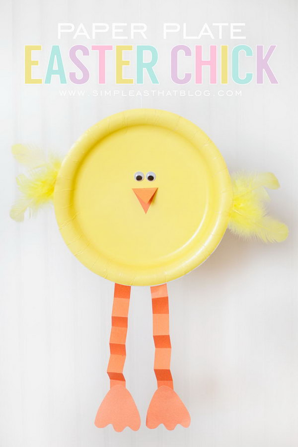Paper Plate Easter Chick. This paper plate chick is a simple but effective Easter craft.