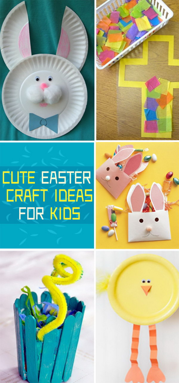 Cute Craft Ideas For Kids Part - 15: Cute Easter Craft Ideas For Kids!