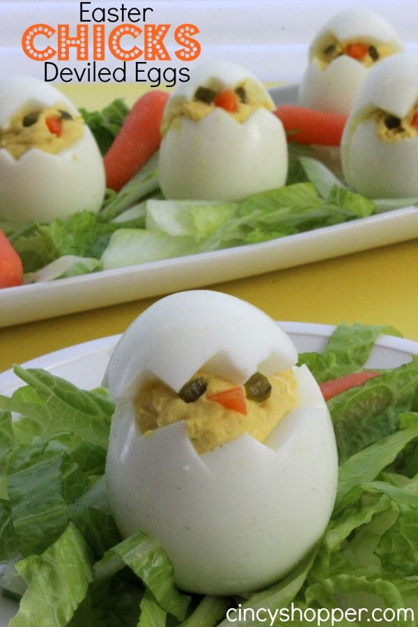 Easter Chicks Deviled Eggs. Add these cute little chicks to your Easter dinner menu. These Easter Chick Deviled Eggs are so simple yet they are just so special.