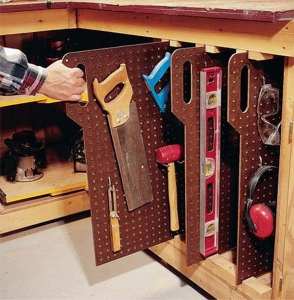 Clever garage storage and organization ideas hative - Small workshop storage ideas ...