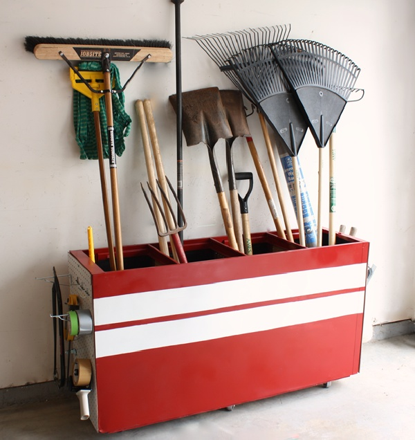 Recycle Old File Cabinet into Garage Organizer. Organizing garage can be a lengthy and costly process, but it will save time and eventually money.